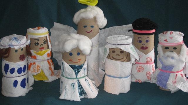 Figuras Bíblicas de rollo de cartón